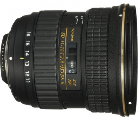 Tokina 11-16mm f/2.8 AT-X116 Pro DX II Lens