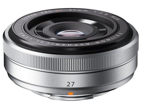Fujifilm XF 27mm F2.8 'pancake' lens Silver