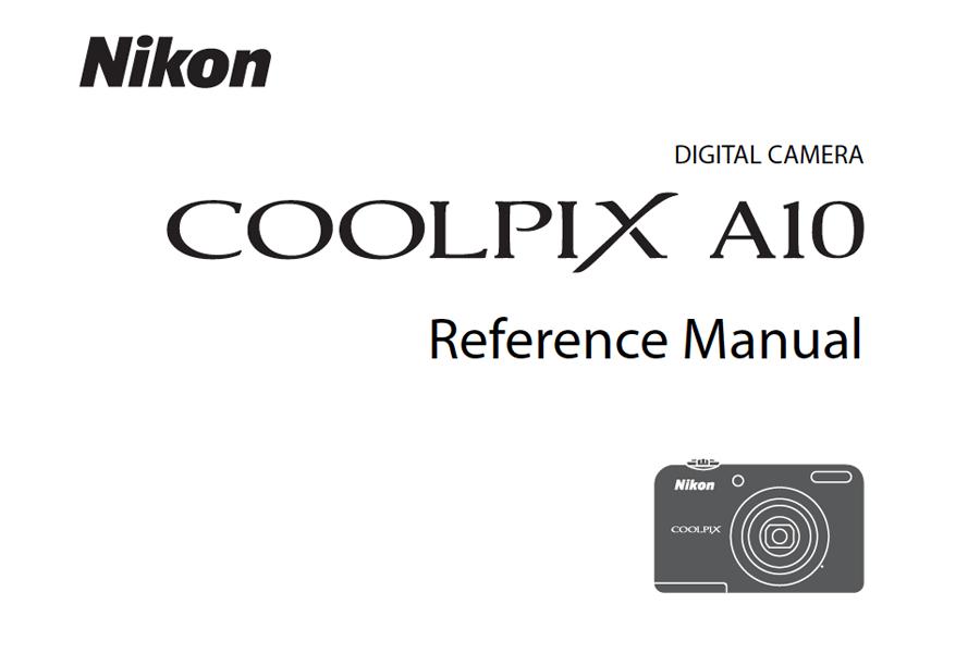 Nikon COOLPIX A10 Manual pdf