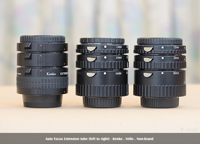 Auto Focus Extension Tube Comparison