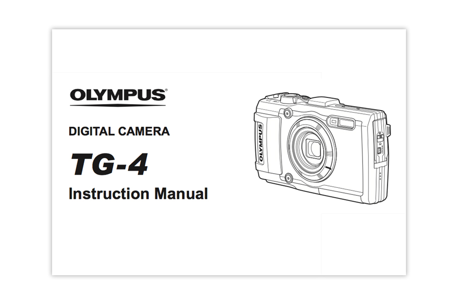 Olympus Stylus TOUGH TG‐4 Instruction or User Manual [PDF