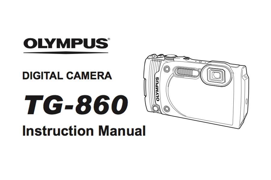 Olympus Stylus Tough TG-860 Instruction Manual PDF Download