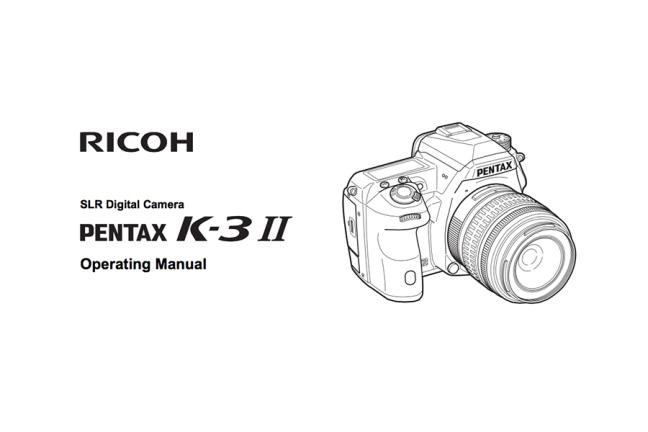 PENTAX K-3 II Manual pdf