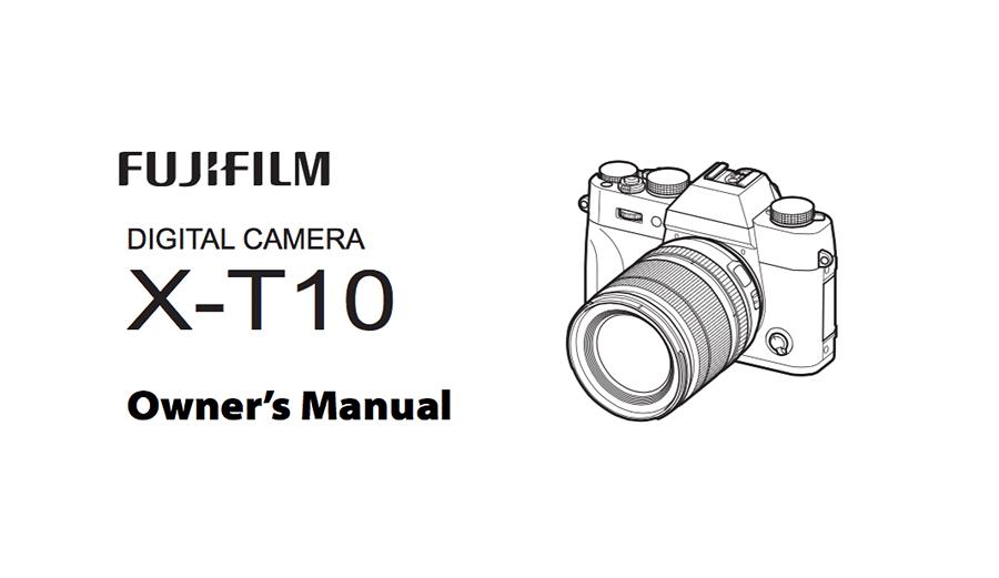 Fuji XT10 Manual