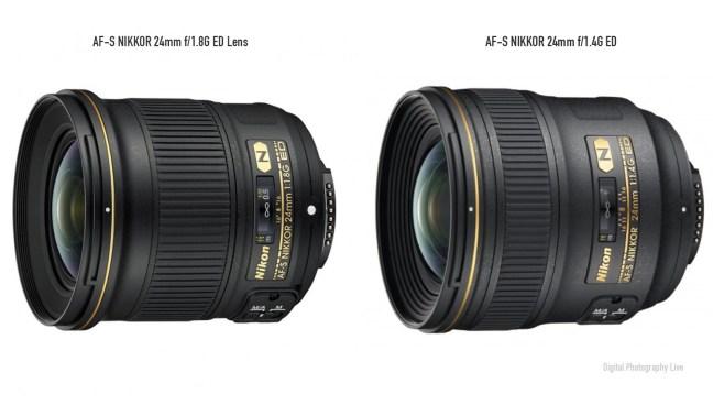 Nikon-24mm-f1.4G vs 24mm f:1.8G