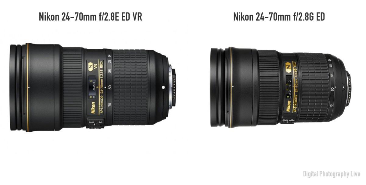 Nikon AF-S 24-70mm f:2.8E ED VR vs AF-S 24-70mm f:2.8G ED