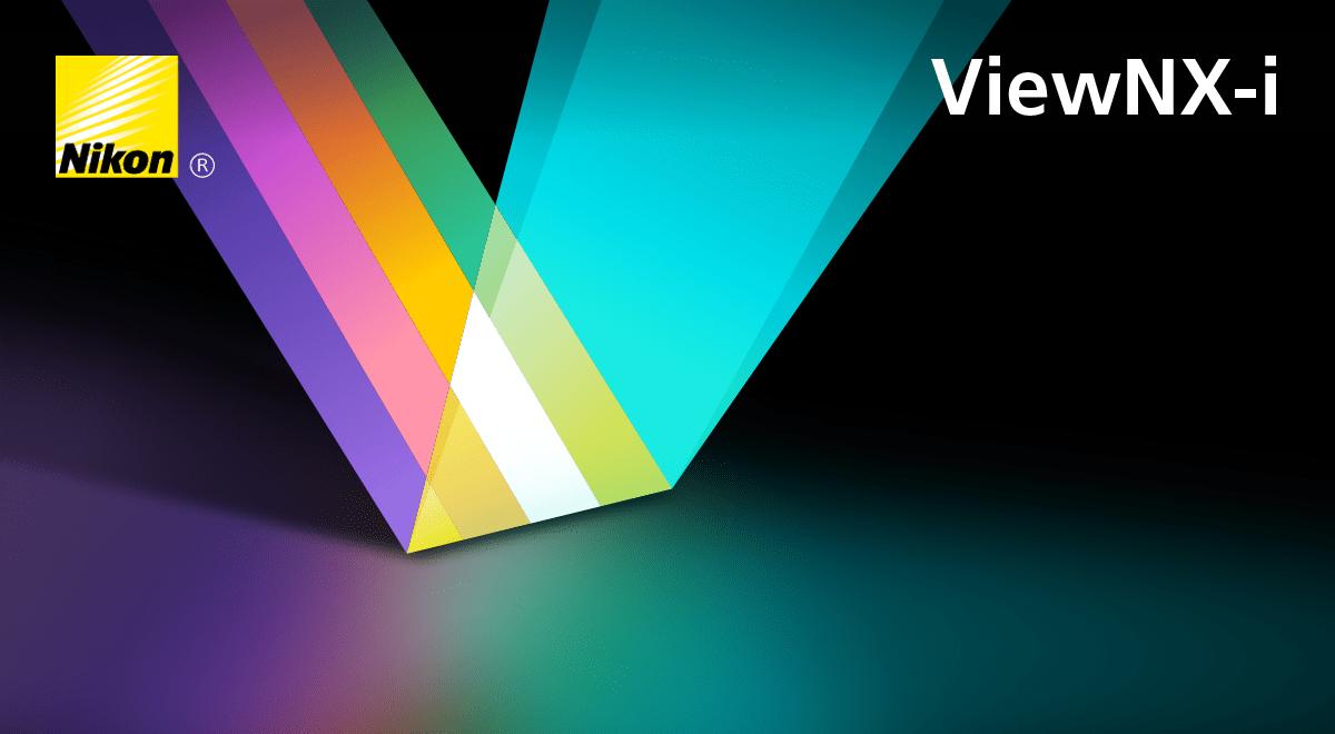 Nikon ViewNX-i logo background