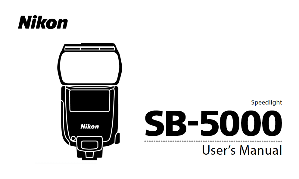 Nikon SB-5000 Speedlight Instruction or User's Manual
