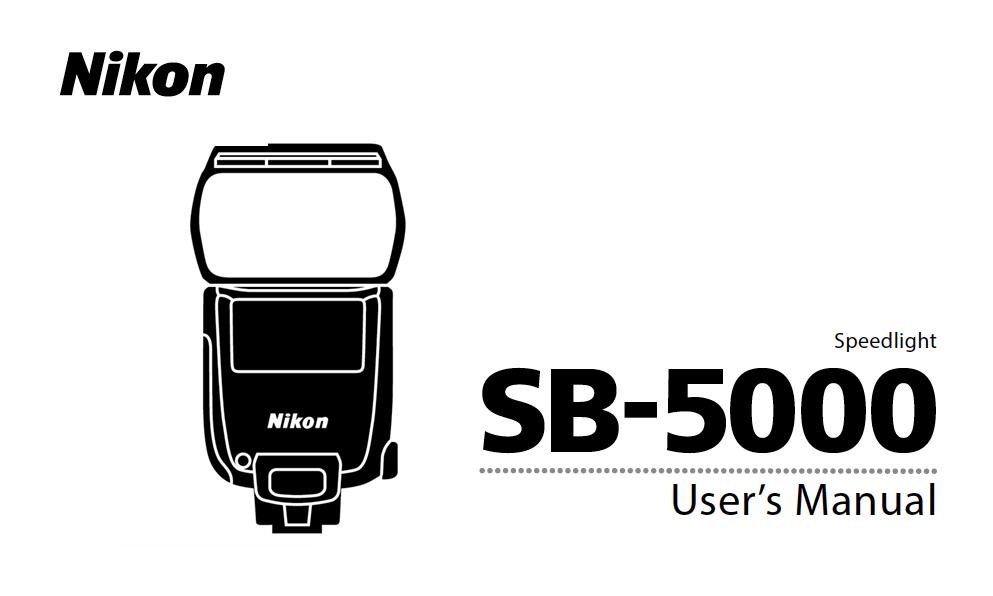Nikon SB-5000 Speedlight Instruction or User's Manual