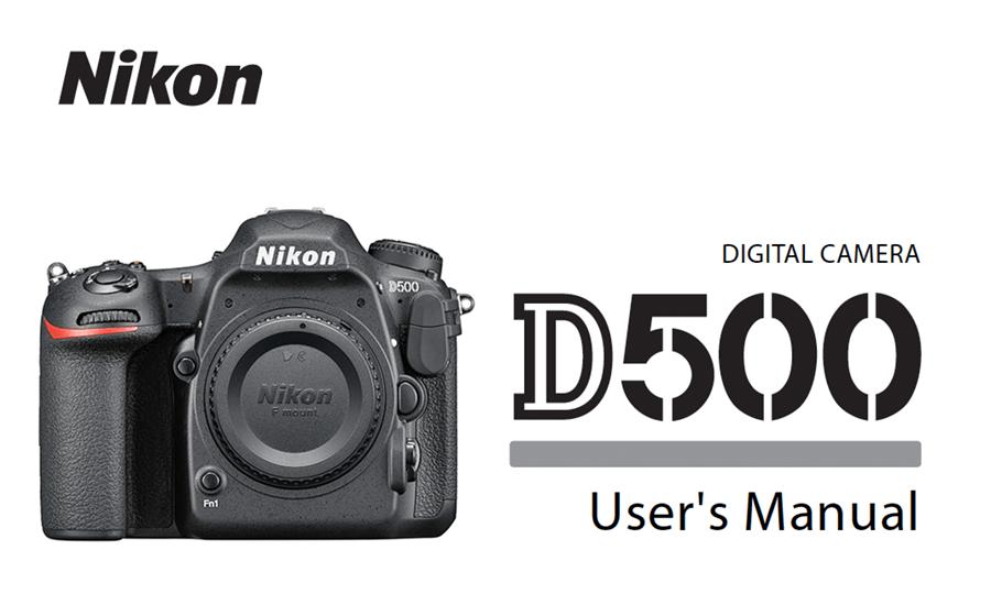 nikon d500 instruction or user s manual available for download pdf rh digitalphotographylive com nikon d500 manual english nikon d500 manual español