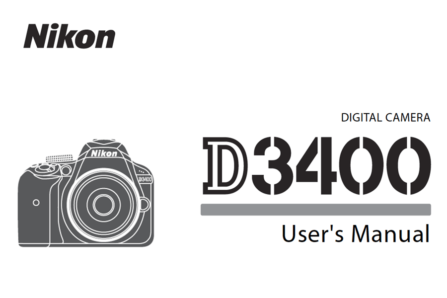Nikon D3400 Instruction or User's Manual Available for