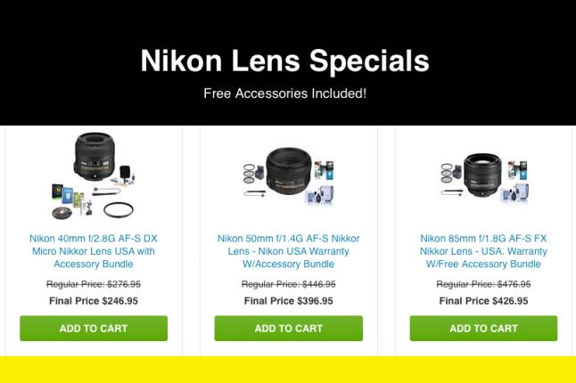 Nikon Lens Rebate