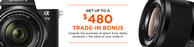 Sony Instant rebate January 2017