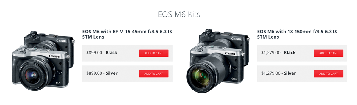 Canon EOS 77D, EOS T7i & EOS M6 Cameras are Now Shipping