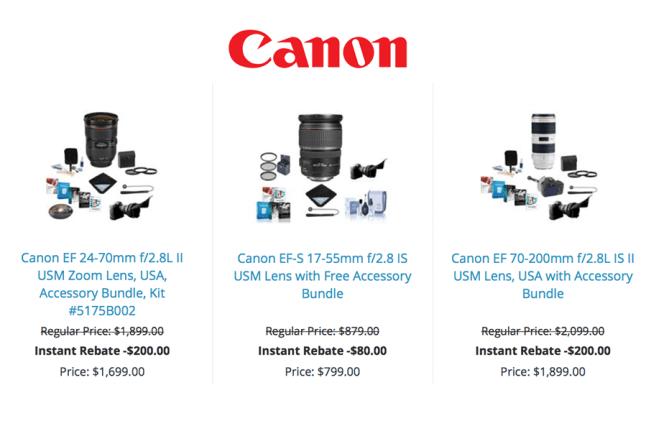 Canon Instant Rebates April