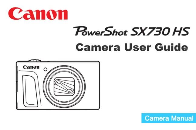 Canon PowerShot SX730 Manual