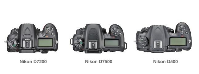 Nikon D7200 vs Nikon D7500 vs Nikon D500 Comparison