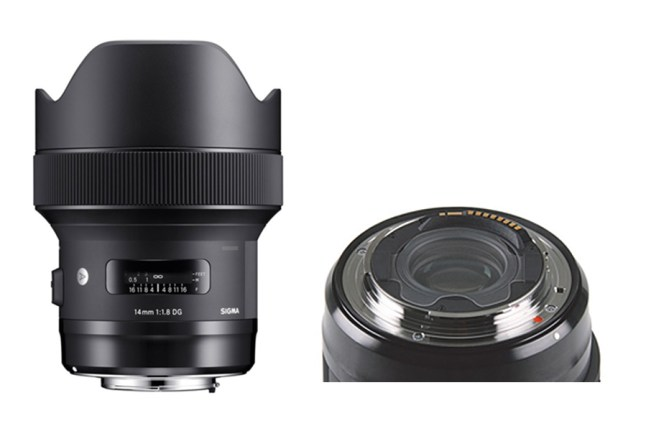 SIGMA 14mm F1.8 DG HSM Art Rear filter holder