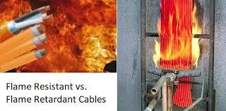 fire resistant cables vs fire retardant cables
