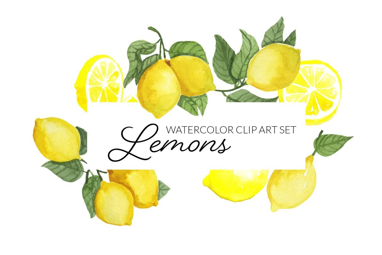 Watercolor Clipart Lemons