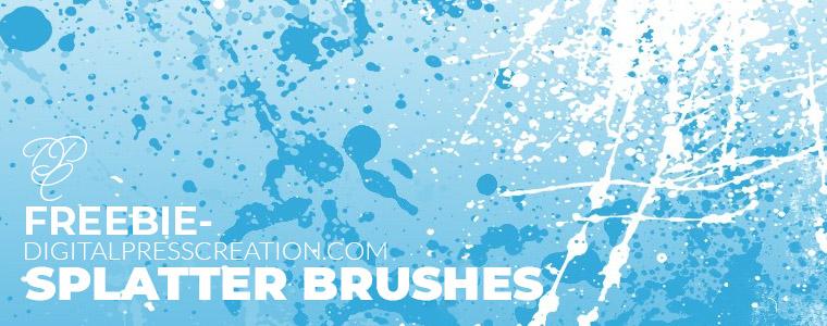 Freebie Splatter Brushes Corelila