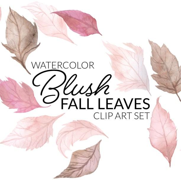 Blush Fall Leaves Clipart