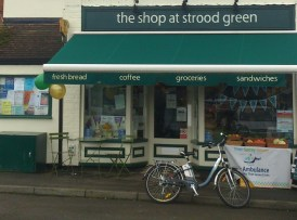 The community shop at Strood Green won funds to extend