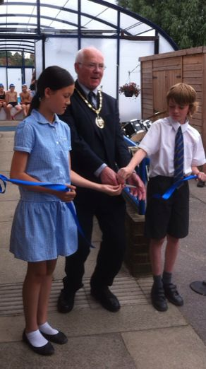 Horsell Junior School was awarded money towards a roof for the swimming pool