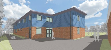 The proposed classroom block at St Alban's Primary in West Molesey