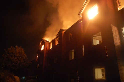 Fire raging at Gibson Court
