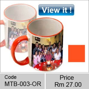 color mug rim orange