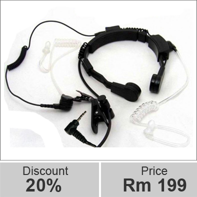 Yanton T005B throat earphone