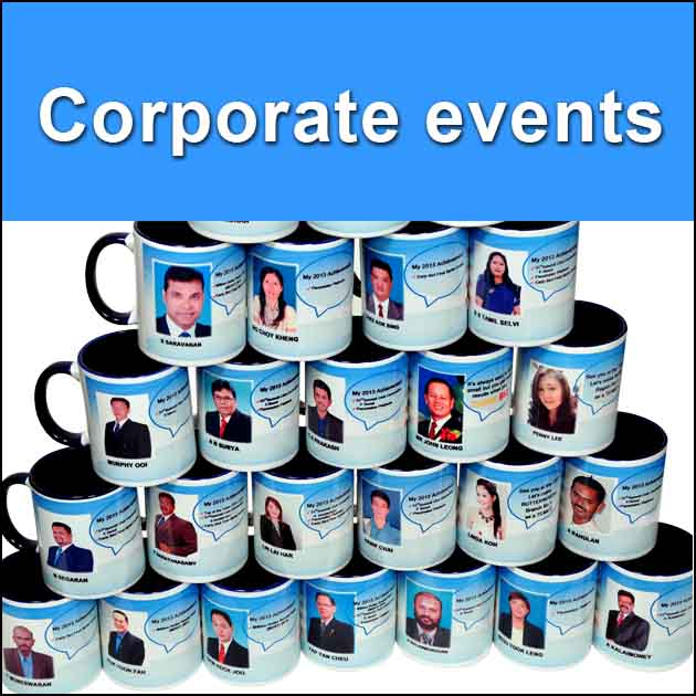 Corporate events color mug