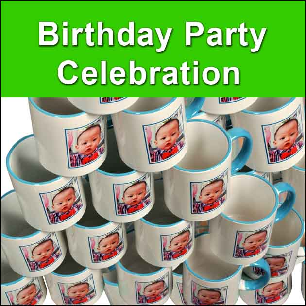 High quality birthday party mugs printing from Rm 3.50/unit