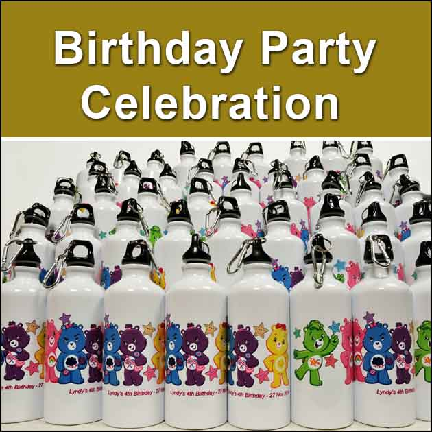 Birthday Party water bottle print from Rm 14/unit