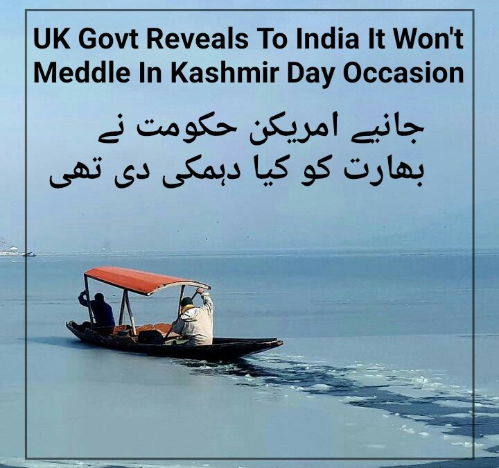 UK govt reveals to India it won't meddle in Kashmir Day occasion