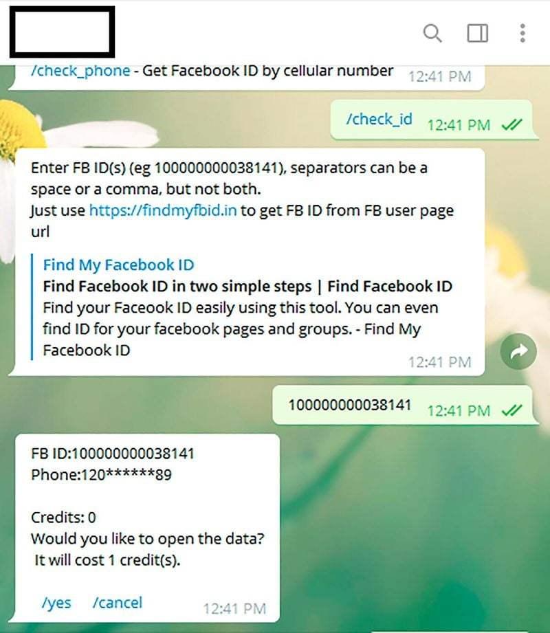 Telegram botunda açığa çıkan milyonlarca Facebook telefon numarası