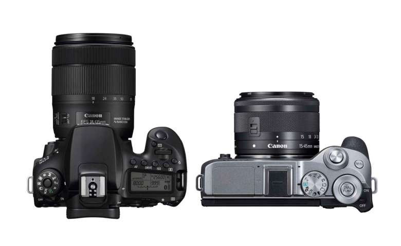 An adaptor is available so the M6 MkII can use EF lenses.