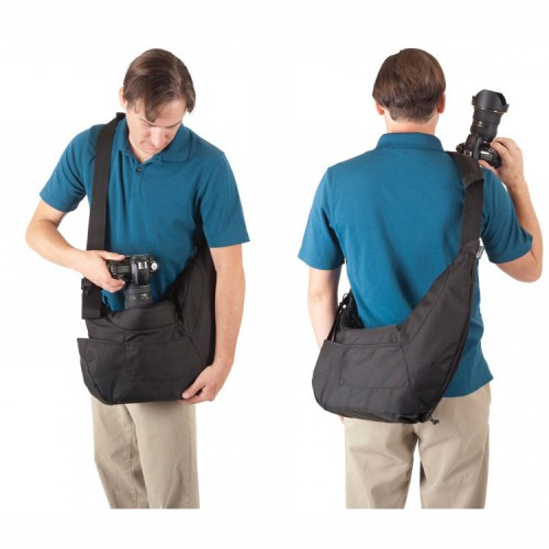 Black-Waterproof-Genuine-Lowepro-Po-the-Passport-Sling-PS-DSLR-SLR-Camera-Bag-Travel-Shoulder-Camera
