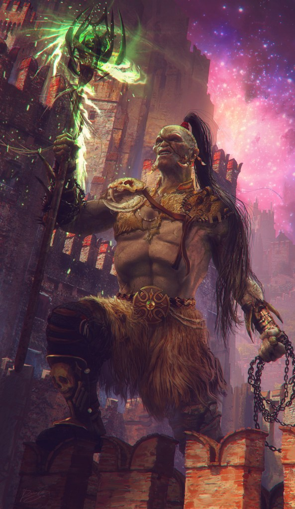 Orc Shaman - Roger Creus Digital Art