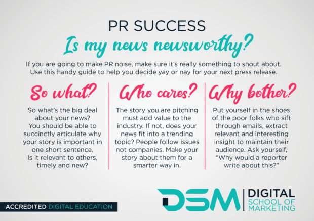 DSM Digital school of marketing - pr process