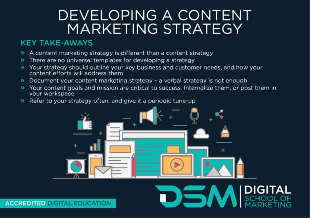 DSM Digital school of marketing - social media content