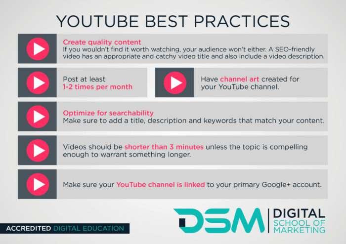 DSM Digital school of marketing - youtube channel