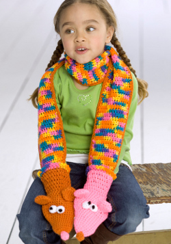 Crochet Hand Puppet Scarf