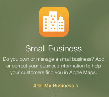 how to get your business on apple maps