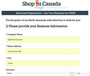 How to List Your Business on ShopInCanada