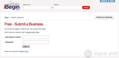 How to submit a business to iBegin.com-2
