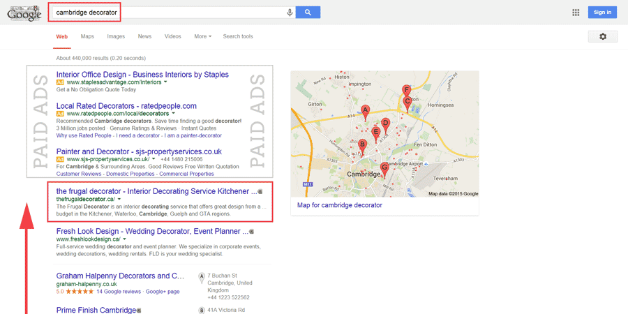 cambridge local seo case study