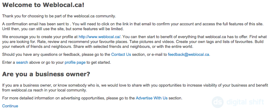 how to add business to weblocal.ca step 4
