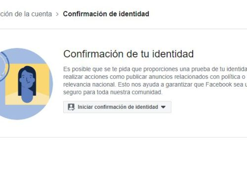 Confirmación de Identidad en Facebook